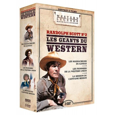Coffret Randolph Scott 2 - 3 DVD Westerns de Légende