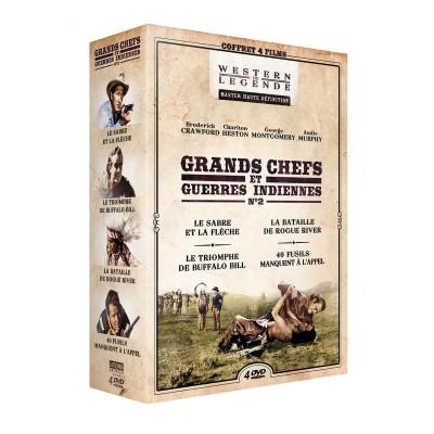 Coffret Grands chefs et guerres indiennes n°2 - 4 DVD Coffrets