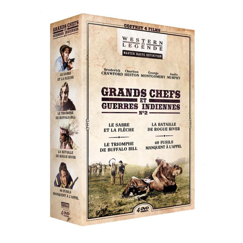 Coffret Grands chefs et guerres indiennes n°2 - 4 DVD Précommandes